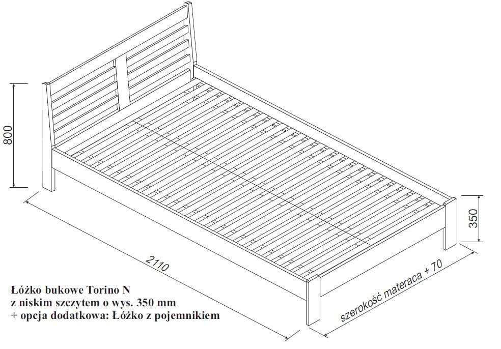 Zupełnie nowe Łóżko bukowe Torino SPAR MEBLE - Sklep Internetowy, Cena, Opinie TO67